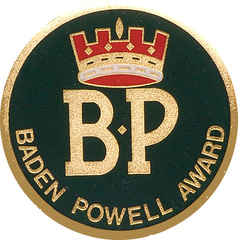 Baden Powell Award Mounting Badge ROUND