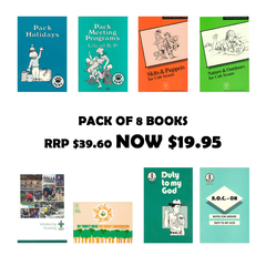 Scout Books - PACK OF 8 (RRP $39.60)
