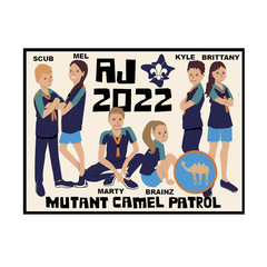 AJ2022 Mutant Camel Swap Badge