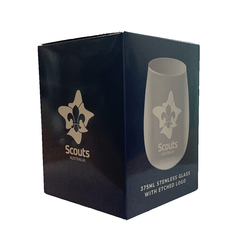 Scout Logo 375ml Glass - Pack of 6