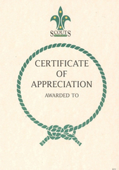Certificate of Appreciation - OUT OF STOCK