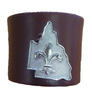 Queensland Leather Woggle with Badge