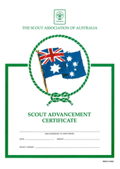 Scout Advancement Certificate