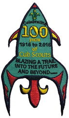 100yr Cub Scout Rocket Badge - Queensland