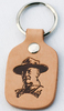 Baden-Powell Scouting Leather Keyring