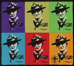 World Scout Baden Powell Pop Art Blanket Badge