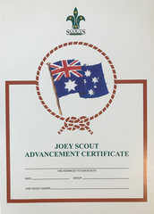 Joey Scout Advancement Certificate - OUT OF STOCK