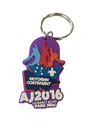 AJ2016 Rubber Key Ring Vic Contingent (RRP $3.95)