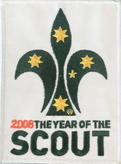 2008 Year of the Scout Blanket Badge